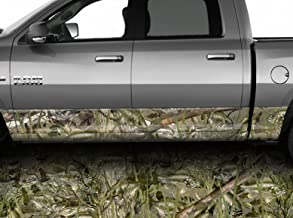 Speed Demon Hot Rod Shop Bass Camo Camouflage Rocker Wraps Rocker Panel Graphic Decal Wrap Kit for Truck SUV MK-166RKR (Semi-Conformative, 16