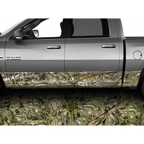 "Camo Oak Rocker Panel Wrap Decal 3m Cast Vinyl 10 Yr  Truck SUV 12/"" x 25 feet"