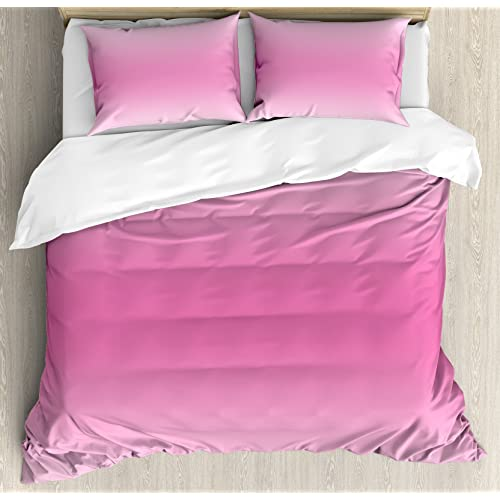 Ambesonne Ombre Duvet Cover Set, Fairytale Cotton Candy Inspired Theme Girly  Design Room Decorations In