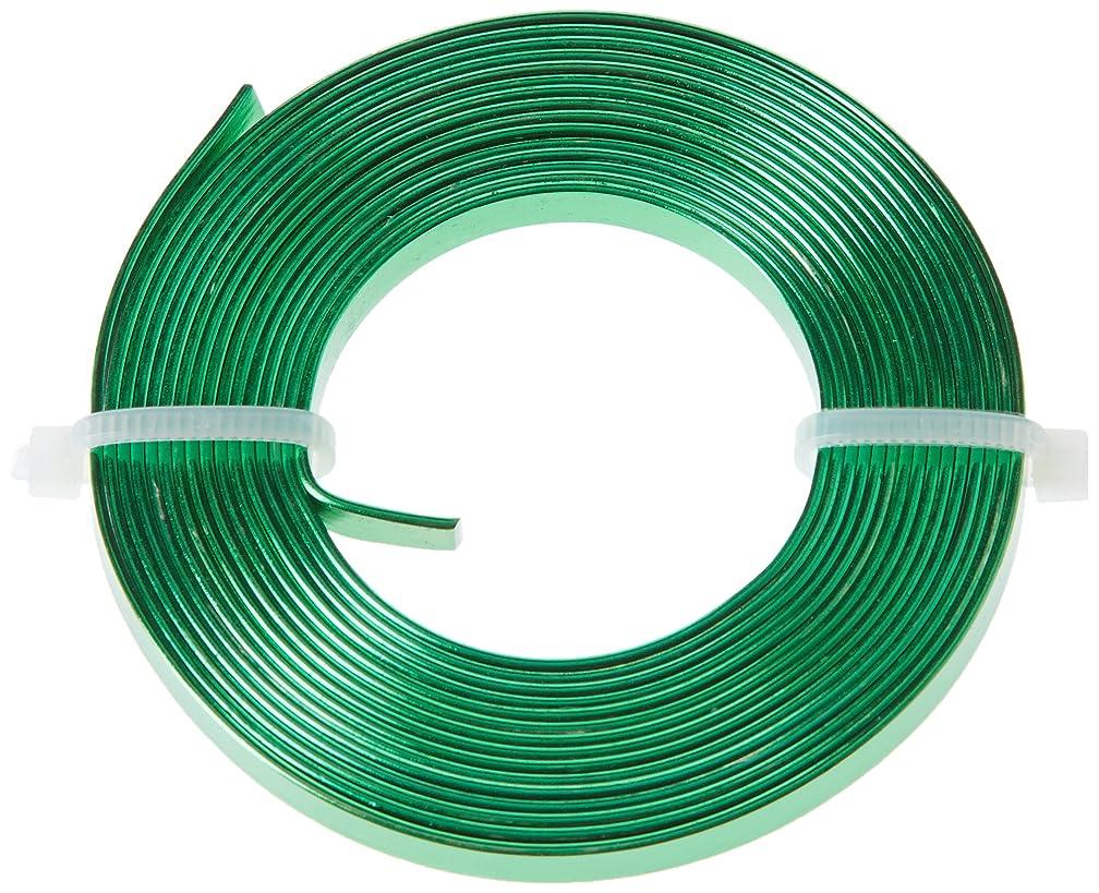 Efco Aluminium Wire Anodized Flat 1 x 5mm x 2m Grass-Green