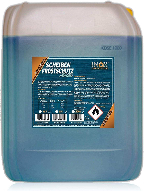 Inox Arctic Scheibenfrostschutz Konzentrat 10l Auto Frostschutzmittel Scheibenwaschanlage Für Scheibenwischwasser Bis 35 C Auto