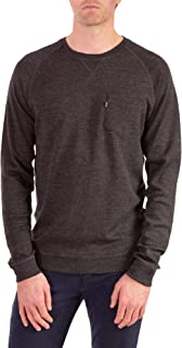 Woolly Clothing Men's Merino Pro-Knit Wool Crew Neck Sweatshirt - Mid Weight - Wicking Breathable Anti-Odor