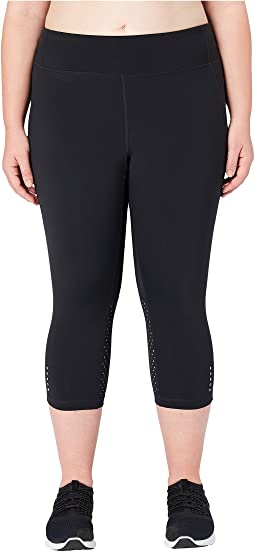Flashflex Plus Size Medium Waist Run Capri Leggings