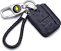QZS Key Chain Fob Cover Shell Remote Case Bag Black for Chevrolet Silverado Colorado M3N32337100 13577770 13577771 GMC Sierra Yukon Cadillac(Chevrolet-2 Black)