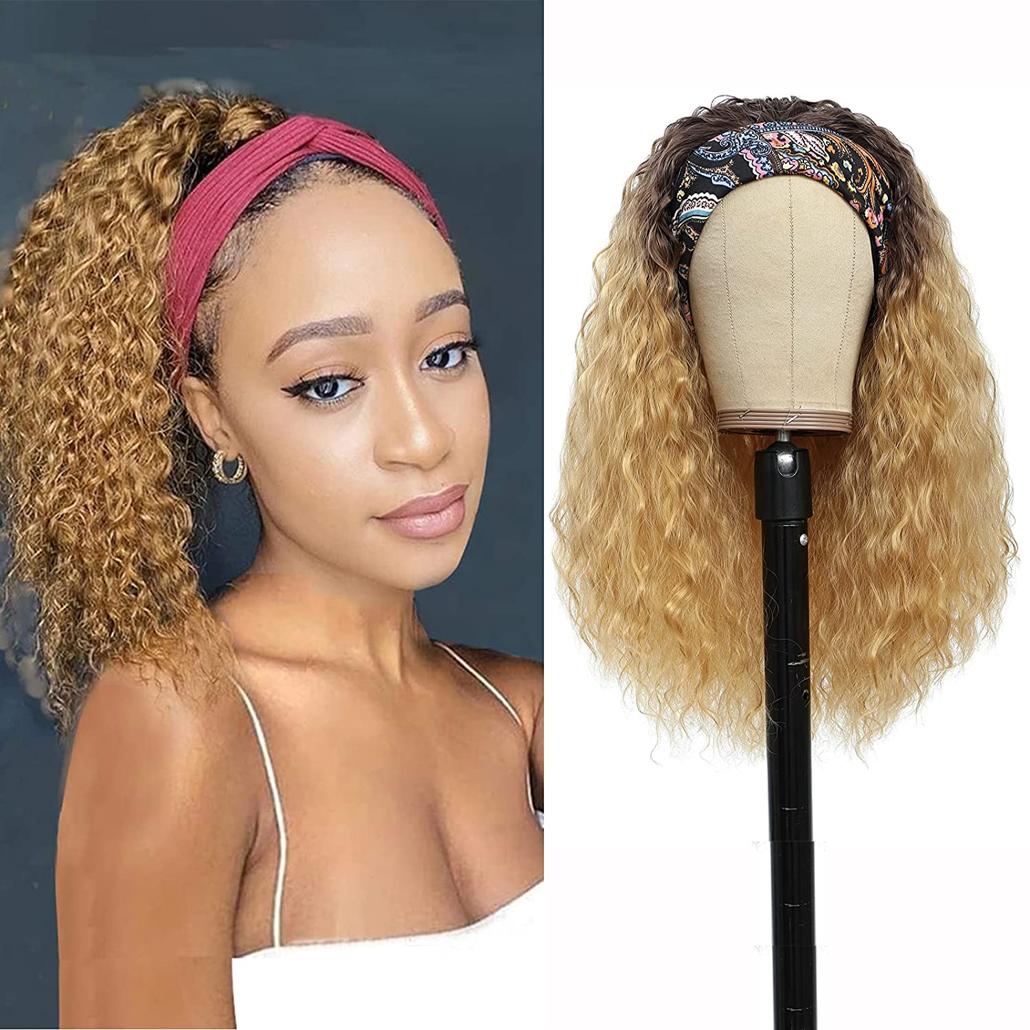 Water Wave Headband Wigs for Black 40% OFF Cheap Sale Wet Women Synthetics Limited time trial price Wavy and