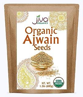 Jiva Organic Ajwain Seeds 1.5 LB Bag - Non-GMO - Bishops Weed or Carom Seeds