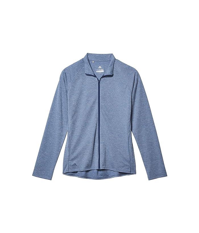 adidas Golf Kids  Heathered Knit Jacket (Little Kids/Big Kids) (Tech Indigo Melange) Girls Coat