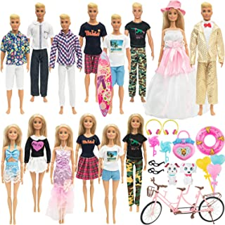 SOTOGO 40 Pieces Doll Clothes and Accessories for 11.5 Inch Girl Boy Doll Lovers Life Include 14...