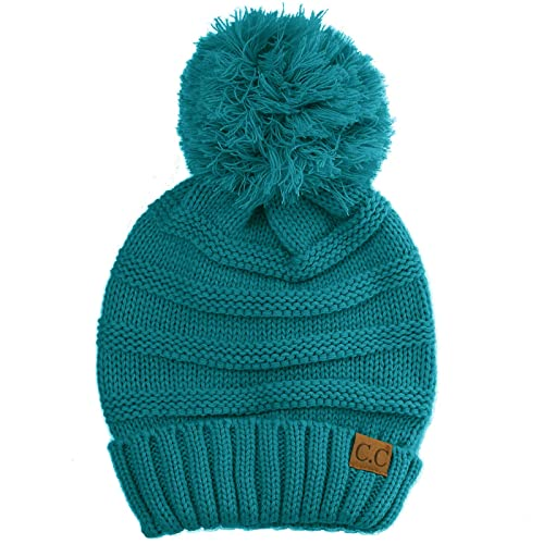 93be3f7d00 Oversized Super Big Slouchy Pom Pom Warm Chunky Stretchy Knit Beanie Hat