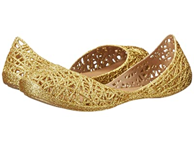 Mini Melissa Mel Campana Zigzag (Little Kid) (Gold Glitter) Girl