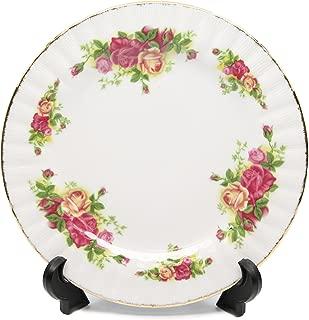 Royalty Porcelain Set of 6 Dinner Plates, Vintage Floral Pattern, 24K Gold Bone China Tableware (10.5, Vintage Floral)