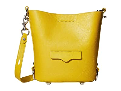 Rebecca Minkoff Small Utility Convertible Bucket (Sunflower) Handbags