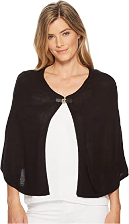 Calvin Klein Solid Shawl with Turnlock Hardware