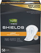 Depend Shields for Men, Light Absorbency  Incontinence Protection, 3 Packs of 58, 174 Total