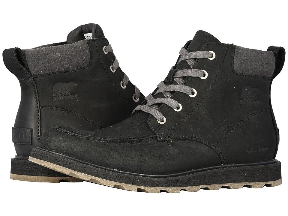 SOREL Madson Moc Toe Waterproof (Black/Dark Grey) Men