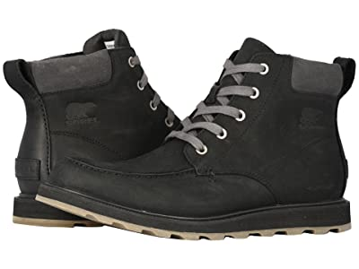 SOREL Madson Moc Toe Waterproof (Black/Dark Grey) Men