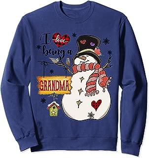 I Love Being A Grandma Snowman Family Christmas Gifts Sweatshirt