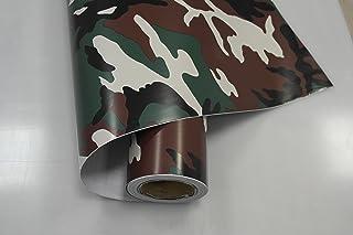 vinie Camouflage Woodland Autofolie 200x152cm Blasenfrei mit Luftkanäle Gratis Montageanleitung 14,99€/1qm