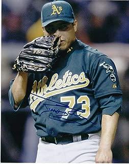 Ricardo Rincon Signed Photograph - A'S 8x10 - Autographed MLB Photos