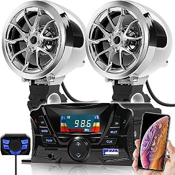 Bluetooth Motorcycle Audio Stereo Speaker System MP3 Radio USB Suzuki KTM Custom