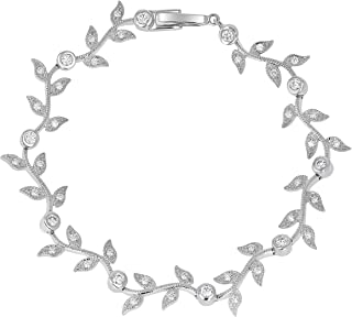 14k White Gold 1 Carat (G-H Color, VS1-VS2 Clarity) IGI Certified Diamond Vine Bracelet