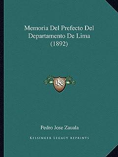 Memoria del Prefecto del Departamento de Lima (1892)