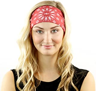 Paisley Bandana & Neck Gaiter Combo - Wear As A Headband, Scarf, Or Neck Cover