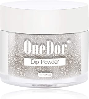 OneDor Nail Dip Dipping Powder – Acrylic Color Pigment Powders Pro Collection System, 1 Oz. (17 - Gold Glitter)