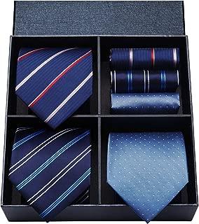 (ヒスデン) HISDERN 洗える ネクタイ 3本セット メンズ ネクタイ ハンカチ セット 高級 ギフトボックス付き ビジネス 結婚式 プレゼント