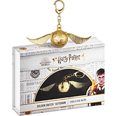 Harry Potter Golden Snitch Keychain – Quidditch Snitch with Movable Wings for Keychains, Zippers, Backpacks – Harry Potter Gifts, Accessories, Merch, Party Favors by PMI, 4.3x1.2 in.