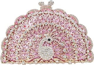 pink metallic clutch bag