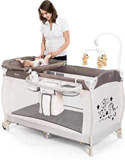comprar comparacion Hauck BabyCenter Zoo – Cuna de viaje dos alturas, con elevador para recién nacidos / Parque Cuna viaje con cambiador, móvi...