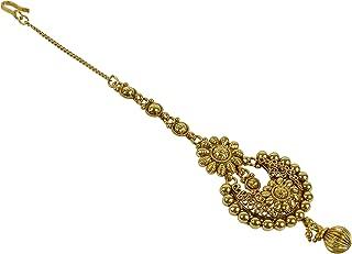 Bollywood Indian Style Gold Tone Maang Tikka Jewelry Wedding Forehead Tikka for Women.