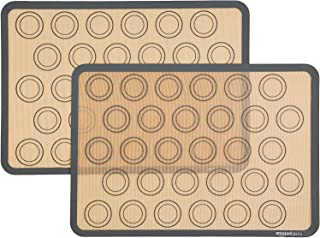 Amazon Basics Silicone Macaron Baking Mat - 2-Piece Set