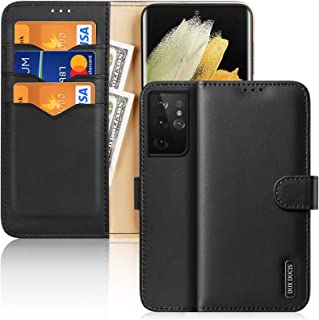 """GANGXUN Wallet Case Compatible with Samsung Galaxy S21 5G (6.2""""-inch), Genuine Leather Flip Folio Magnetic Phone Case Cove..."""