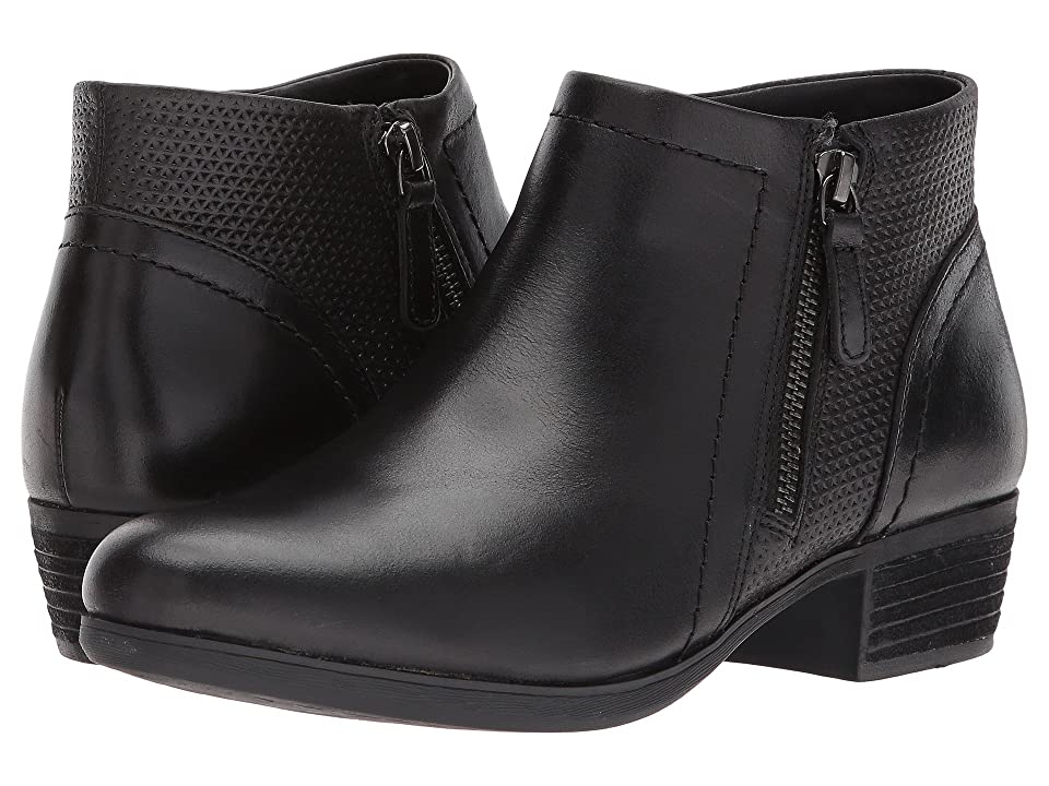 Rockport Cobb Hill Collection Cobb Hill Oliana Panel Boot (Black Pull Up Leather) Women