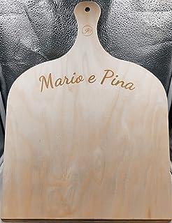 Artigianeria - Pala per pizza in legno di betulla con incisione personalizzata. Realizzata in modo artigianale in Italia. ...