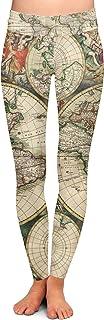 Queen of Cases 1689 Antique World Globe Map Yoga Leggings XS-3XL