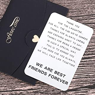 Friendship Gifts Wallet Card For Best Friends Men Women Christmas Valentine Appreciation Birthday Gifts For Friends Bff Besties Gal Male Female Friends Thank You Gifts For Him Her Long Distance Silver