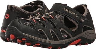 صندل Hydro H2O Hiker للأولاد الرضع من Merrell (الأطفال الصغار/الأطفال الكبار) أسود/رمادي غامق/برتقالي 11 للأطفال الصغار W