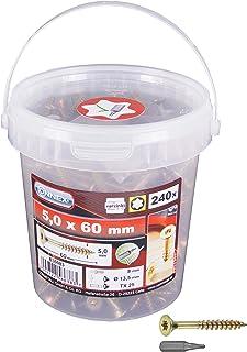 Viti per Truciolare Testa Piana TSP CR Bronzate 4,5  x 50 mm confezione 200 pz