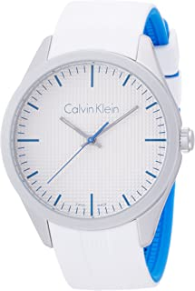 Calvin Klein Women's Quartz Watch with Black Dial Analogue Display Quartz Rubber K5E51FK6