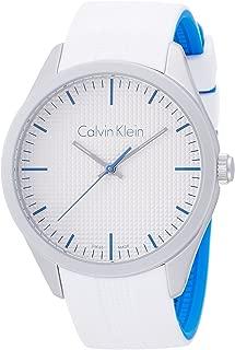 Calvin Klein Women's Quartz Watch with Black Dial Analogue Display Quartz Rubber K5E51FK6