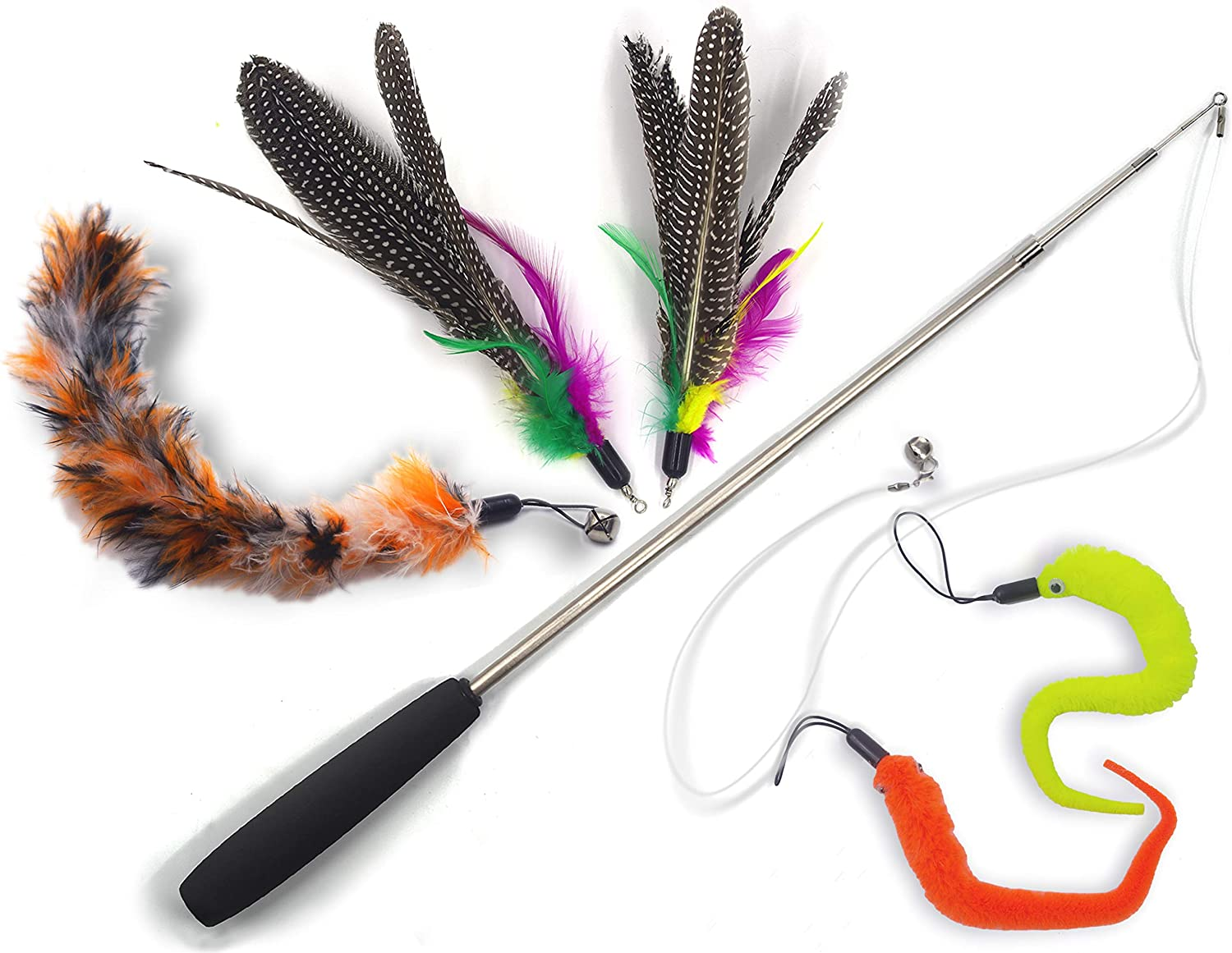 Cat Toys Wand Retractable Interactive Toy Feather wi Teaser Our shop most popular Max 85% OFF