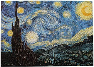 ieGOOD Children Adult Decompression Puzzle Toy Starry Night by Vincent Van Gogh- Adults 1000 Piece Paper Jigsaw Puzzle Col...