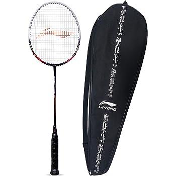 Li-Ning Turbo X 70 G4 Strung Graphite Badminton Racquet (Black/Lime) with Free Full Racket Cover