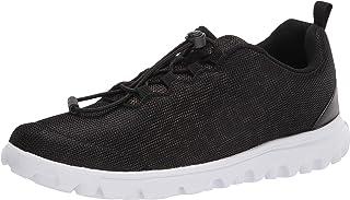 Propét womens Travelactiv Safari Sneaker, Black, 6.5 Narrow US