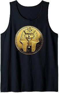 Mask of Tutankhamun Ancient Egyptian Pharoah Coin King Tut Tank Top