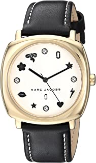Marc Jacobs Women's White Dial Leather Band Watch - MJ1564