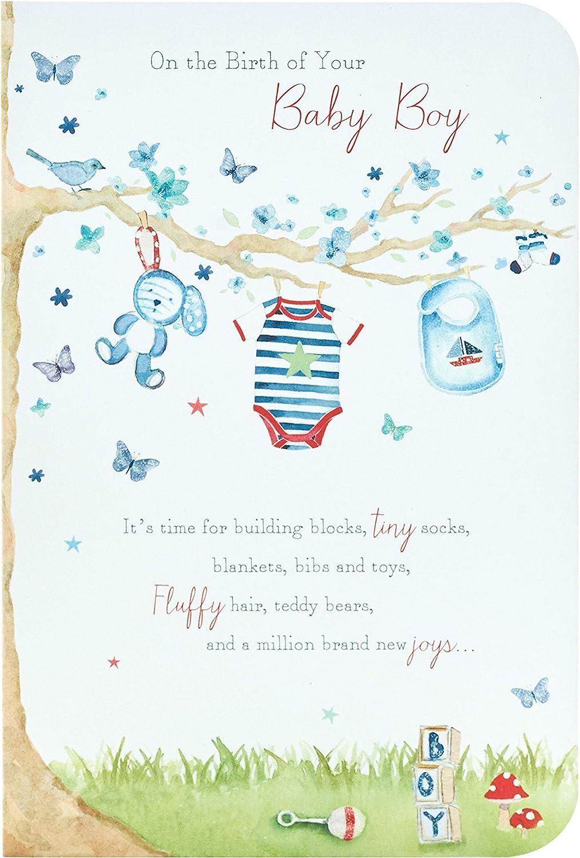 Congratulations Baby Boy Card   Lovely Verse  Amazon.de ...